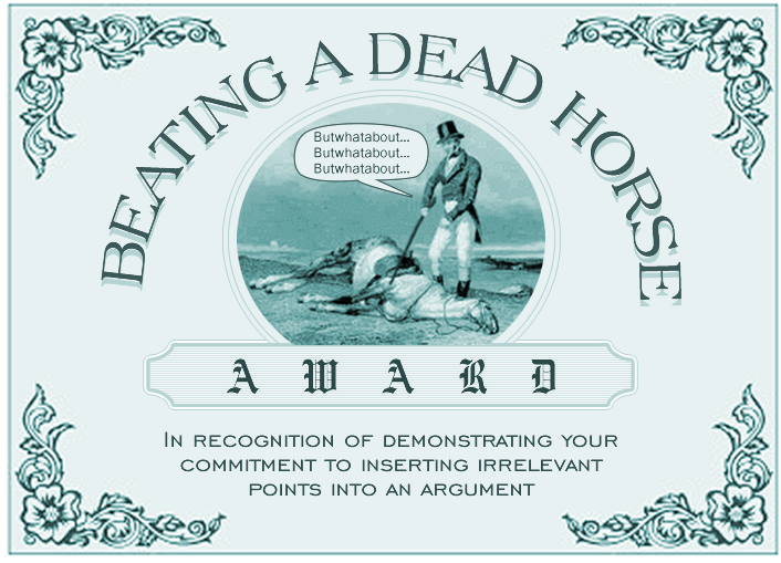 beating-a-dead-horse-award